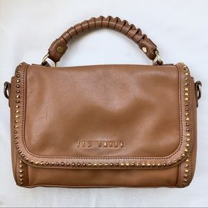 Ted Baker Leather Studded Kelly Handle Bag Purse